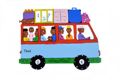 Taxi africain. Photo stock