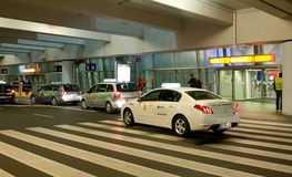 Taxi at the Airport Royalty Free Stock Images