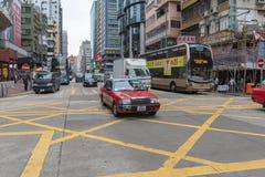 Taxi all'intersezione Fotografia Stock