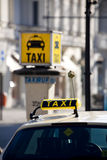 Taxi allemand Image stock