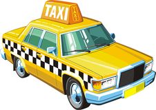 Taxi amarillo Imágenes de archivo libres de regalías