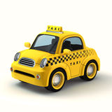 Taxi amarillo de la historieta Imagen de archivo