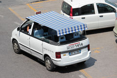 Taxi in Anacapri, Italy. Anacapri is a comune on the island of Capri, in the Metropolitan City of Naples, Italy. The most significant site in the village is Stock Images