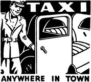 Taxi Anywhere In Town Royalty Free Stock Photo