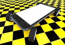 Taxi-APP auf Smartphones Lizenzfreie Stockfotos