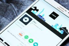 Taxi APP d'Uber sur le jeu de Google Images stock