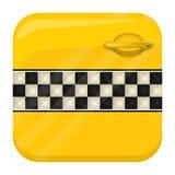 Taxi app drzwiowa ikona Zdjęcia Royalty Free