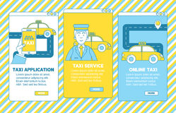 Taxi app illustration. Stock Photography