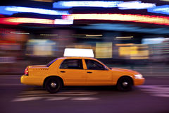 Taxi At Night, With Copyspace Royalty Free Stock Photography