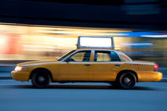 Taxi At Night, With Copyspace Royalty Free Stock Photos