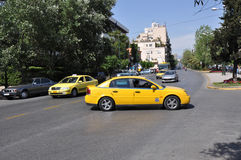 Taxi in Athens Greece Royalty Free Stock Image