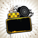 Taxi attributes. Image with taxi attributes and banner for your text Stock Photo