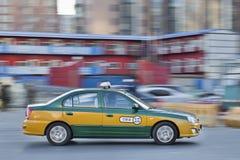 Taxi au centre de la ville de Pékin, Chine Photographie stock libre de droits