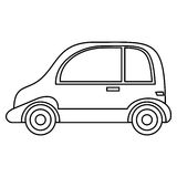 Taxi automobile vehicle outline Stock Image