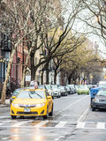 Taxi av New York Royaltyfri Bild