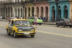 Taxi Avana di Lada Immagine Stock