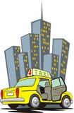 Taxi avec la porte ouverte Images stock