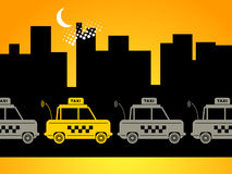 Taxi background Royalty Free Stock Photo
