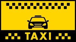 Taxi background with cab silhouette Stock Image