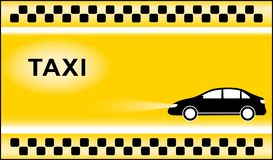 Taxi background with cab symbols light Stock Photos