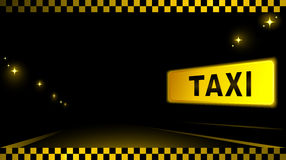 Taxi background with car and city light Royalty Free Stock Images