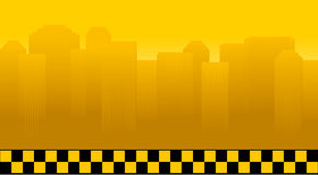 Taxi background with city royalty free illustration