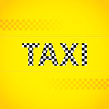 Taxi background design Stock Image