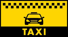 Taxi background with place for text Royalty Free Stock Photo