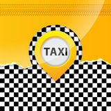 Taxi background with ripped paper Stock Photo