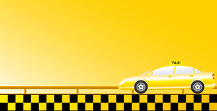 Taxi background with road Stock Image