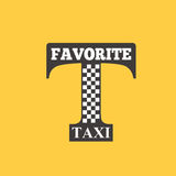 Taxi badge car service business sign template vector illustration. Royalty Free Stock Photos