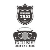 Taxi badge car service business sign template vector illustration. Royalty Free Stock Image