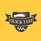 Taxi badge car service business sign template vector illustration. Royalty Free Stock Images