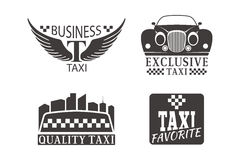 Taxi badge car service business sign template vector illustration. Stock Images