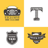 Taxi badge car service business sign template vector illustration. Stock Photo