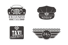 Taxi badge car service business sign template vector illustration. Royalty Free Stock Photography