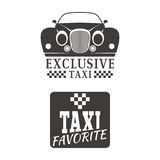 Taxi badge car service business sign template vector illustration. Royalty Free Stock Photo