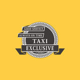 Taxi badge car service business sign template vector illustration. Stock Photography