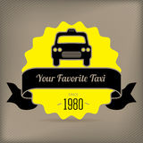 Taxi badge for company promotions Royalty Free Stock Photo