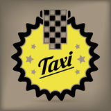 Taxi badge design Royalty Free Stock Photos