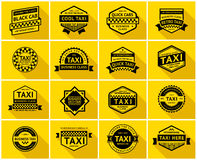Taxi badge set Stock Photos