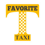 Taxi badge vector illustration. Royalty Free Stock Photography
