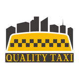 Taxi badge vector illustration. Royalty Free Stock Image