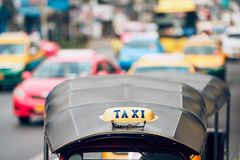 Taxi in Bangkok royalty-vrije stock foto