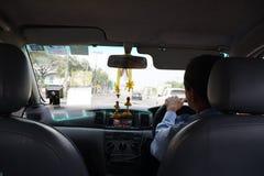 Taxi in Bangkok. Taxi driver in Bangkok Thailand Stock Image