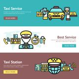Taxi Banner Set Stock Images