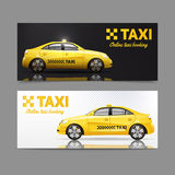 Taxi Banner Set Royalty Free Stock Photo