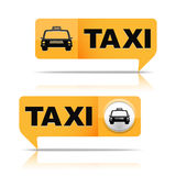Taxi Banners Stock Images