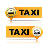 Taxi Banners Stock Image