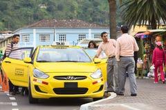 Taxi in Banos, Ecuador Stock Photo